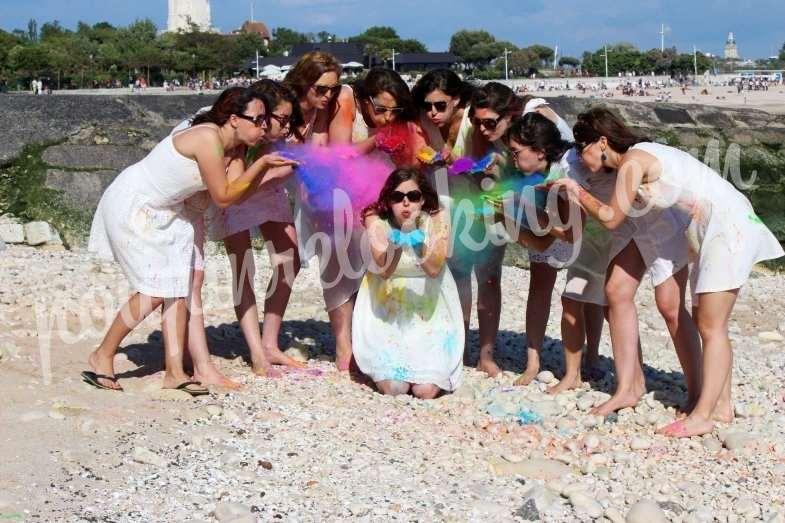 Séance Photo Enterrement Vie de Jeune Fille – Holi Time - La Rochelle – Anne-Flore