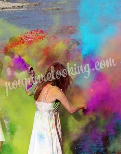 Shooting   - Séance Photo Enterrement Vie de Jeune Fille – Holi Time - La Rochelle – Anne-Flore -  ans -