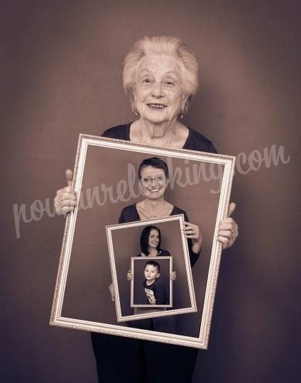 Shooting   - Séance Photo Tableaux Générations de Famille - La Rochelle - Audrey et sa famille -  ans -