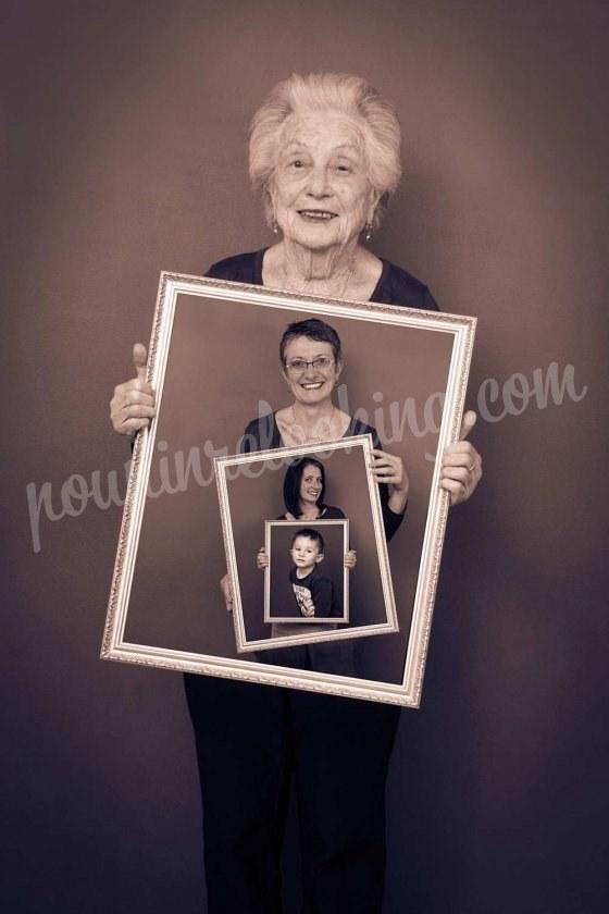 Séance Photo Tableaux Générations de Famille - La Rochelle - Audrey et sa famille