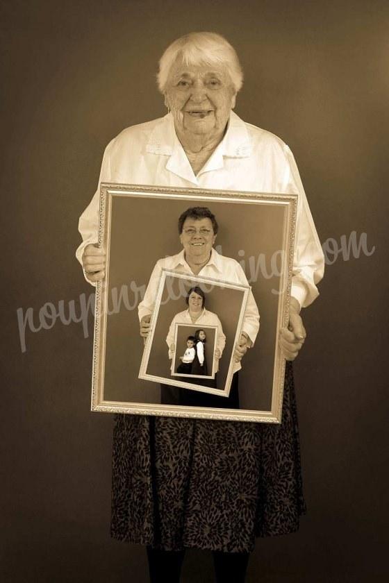 Séance Photo Tableau Génération de Famille - La Rochelle - Maryse et sa famille
