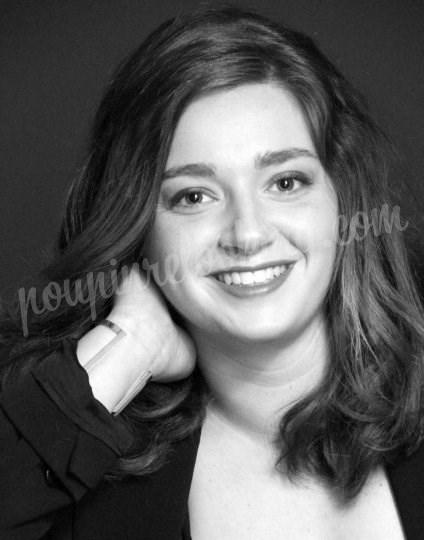 Shooting   - Séance photo en portrait noir & blanc - Alexane -  ans -